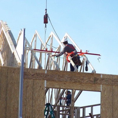 Fall protection equipment resource for residential for Roof trusses installation
