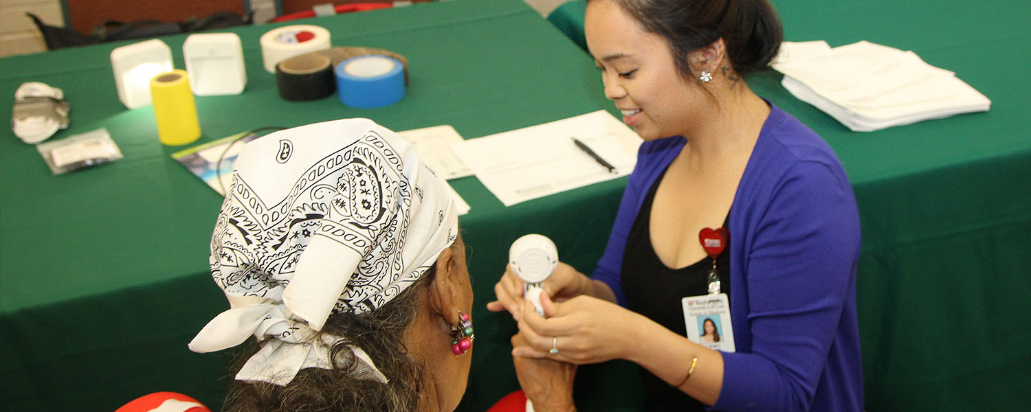 Image of student at community health fair